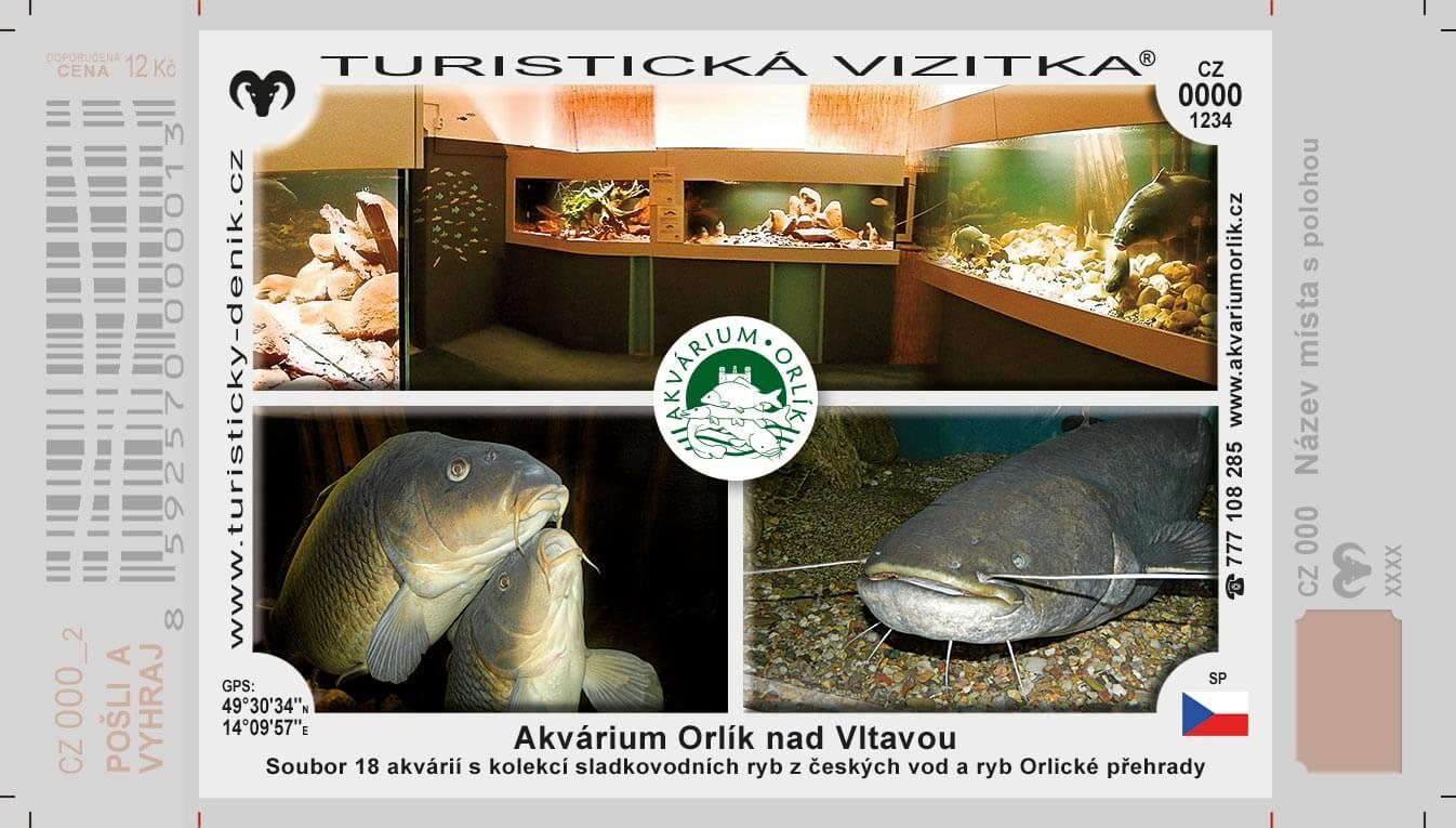 Turistická vizitka akvárium orlík